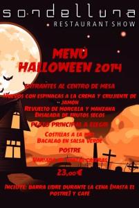Menú  halloween 2014