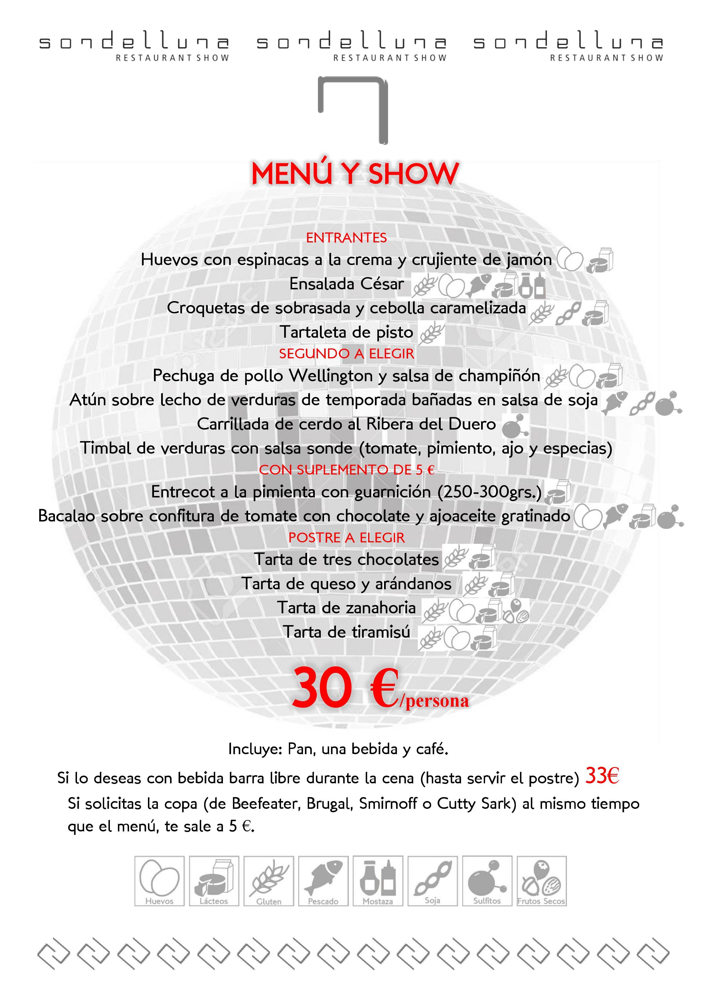 menu show sondelluna