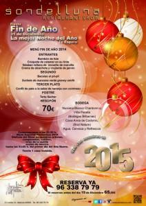 Cena Fin de Año 2014 en Sondelluna
